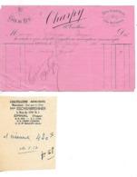 """2 Factures / 88 EPINAL / CHARPY Vêtements """"Au Coin De La Rue"""" Année 1888 / ESCHENBRENNER Coutellerie Armurerie - 1800 – 1899"""