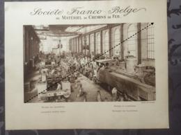 Affiche - Planche Train FRANCO BELGE DE MATERIEL DE CHEMINS DE FER Usine De Raismes Ateliers De Montage Locomotive - Spoorweg