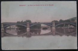 CPA - POMPEY - LE PONT DE CHEMIN DE FER SUR LA MOSELLE - COLORISEE - Autres Communes