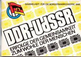 """(Kart-ZD)DDR Sammelheft Für Die DSF-Sondermarkenserie 1988 """"DDR-UdSSR ERFOLGE DER GEMEINSAMKEIT..."""" Kompl. Mit 21 Marken - DDR"""