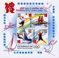 5X INDIA 2012 London Olympic Games; Miniature Sheet, MINT - India