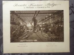 Affiche - Planche Train FRANCO BELGE DE MATERIEL DE CHEMINS DE FER Usine De Raismes Fraiseuse Et Tour Outil - Spoorweg