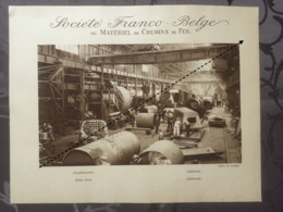 Affiche - Planche Train FRANCO BELGE DE MATERIEL DE CHEMINS DE FER Usine De Raismes Chaudronnerie - Spoorweg
