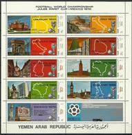 North Yemen 1970 Mi Ark 1088-1096a MNH ( XZS10 YMMark1088-1096a ) - World Cup
