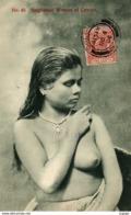 SRI LANKA ( CEYLON )   Singhalese Woman Of Ceylon  ( Seins Nus )  Carte Timbrée à  Colombo En 1906  TBE - Sri Lanka (Ceylon)