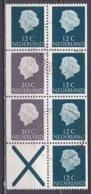 1968 Inhoud Uit PB 7 : 2 X 20 Cent Grijs + 5 X 12 Cent Groen + Kruis Gewoon Papier Gestempeld - Postzegelboekjes En Roltandingzegels