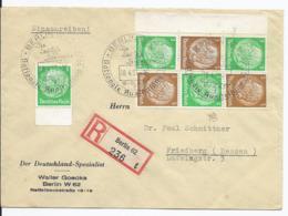 Dt.- Reich (003194) Einschreiben Mit Zusammendruck MNR S128, S130, Gelaufen Berlin Am 18.4.1937 Mit Sonderstempel - Zusammendrucke