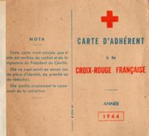 VP16.043 - Comité De VERNEUIL SUR AVRE 1944 - Carte D'Adhérent à La Croix - Rouge Française - Cartes