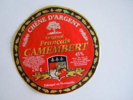 Etiket Etiquette Camembert  Chêne D'argent Fabriqué En Normandie - Fromage