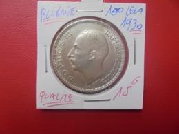 BULGARIE 100 LEVA 1930 ARGENT QUALITE ! (A.1) - Bulgarije