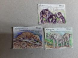 2019 Malaysia Wildlife Conservation Bear Elephant Wild Animals Fauna  Set Stamp MNH - Malaysia (1964-...)