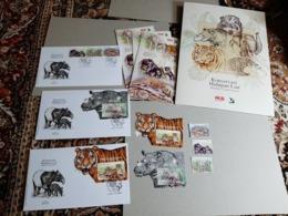 2019 Folder Set FDC & Stamps Malaysia Wildlife Conservation Tiger Rhino Bear Elephant Wild Animals Fauna - Malaysia (1964-...)