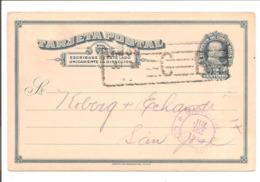 Postal Stationery. Tarjeta Postal 2 Centimos Limon 21.7.13>San José - Costa Rica