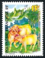 POLYNESIE 1997 - Yv. 525 ** SUP - Horoscope Chinois. Année Du Buffle  ..Réf.POL24694 - Polynésie Française