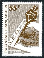 POLYNESIE 1997 - Yv. 524 ** SUP  Faciale= 0,46 EUR - S.E.O. Société Des Etudes Océaniennes  ..Réf.POL24693 - Polynésie Française