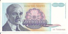 YOUGOSLAVIE 500 MILLION  DINARA 1993 XF+ P 134 - Joegoslavië