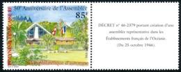 POLYNESIE 1996 - Yv. 519 ** Avec Vignette  Faciale= 0,71 EUR - Salon Phil. Automne. Anniv.De L'Assemblée  ..Réf.POL24691 - Polynésie Française