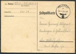 1940 Germany Feldpostkarte Fieldpost 14039 - Germany