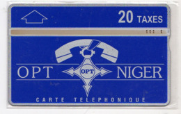 NIGER Ref MV Cards : NGR-10a 20T Téléphone Sur LOGO OPT CN : 612L  5 000 Ex. Année 1996 - Niger