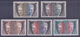 Francia 1960. YT = Ser 22-26 - Nuevos Sin Fijasellos (**). Unesco - Servicio