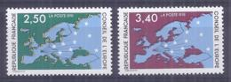Francia 1991. YT = Ser 106-07 - Nuevos Sin Fijasellos (**). Consejo De Europa - Servicio
