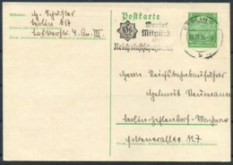 1935 Germany Stationery Postcard. Berlin Propaganda Slogan - Germany
