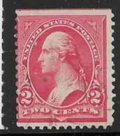Yvert 111 Michel 104XIII - 2 C Carmin Ecke III - O - 1847-99 General Issues