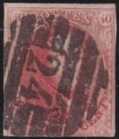 Belgie      .    OBP     .   12  (2 Scans)     .   O     .     Gebruikt   .   /    .   Oblitéré - 1858-1862 Medallions (9/12)