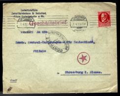 LETTRE EN PROVENANCE DE LUDWIGSHAFEN - AFFRANCHISSEMENT 15 PF ROUGE BAYERN - 1919 -  CENSURE - ZENSUR - CENSORSHIP - - Bavière