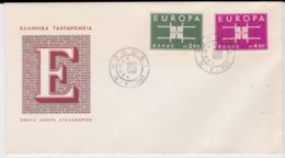 Greece 1963 FDC Europa CEPT (G104-36) - Europa-CEPT