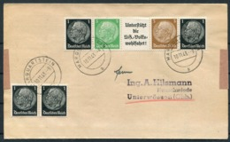 1943 Germany Marquartstein Cover. Hindenburg Coil - Germany