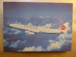 CHINA AIRLINES   A 340  AIRLINE ISSUE / CARTE COMPAGNIE - 1946-....: Era Moderna