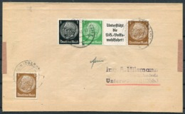 1943 Germany Cover. Hindenburg Coil Strip - Germany