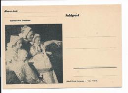 Feldpostkartenformular II. Weltkrieg Mit Bild Schlesische Trachten - Occupation 1938-45