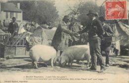 CPA 16 Charente Angoulème Maquignon Foire Aux Bestiaux Porcs Bonjhôr Ragasseau Goret Aubeterre Humour Folklore Marché - Angouleme