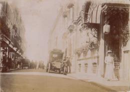 1907 Photo Trouville Calvados Hôtel De Paris Et Rue De Paris Automobile - Places