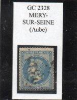 Aube - N° 29B Obl GC 2328 Méry-sur-Seine - 1863-1870 Napoléon III Lauré