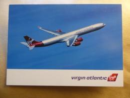 VIRGIN ATLANTIQUE  AIRBUS A 340-600    AIRLINE ISSUE / CARTE COMPAGNIE - 1946-....: Era Moderna