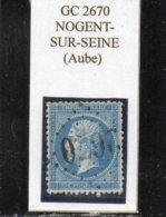 Aube - N° 22 Obl GC 2670 Nogent-sur-Seine - 1862 Napoléon III