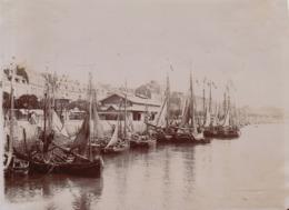 1907 Photo Trouville Calvados Le Pot Voilier Bateau - Places