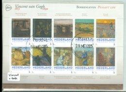 NEDERLAND *  VINCENT VAN GOGH * BOERENLEVEN  * BLOK * BLOC * BLOCK * PERSOONLIJKE POSTZEGELS * POSTFRIS GESTEMPELD - Persoonlijke Postzegels