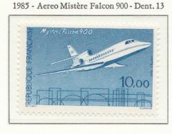 """PIA - FRA - 1985 : Aereo """"Mystère Falcon 900""""  - (Yv 2372) - Aerei"""