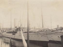 1907 Photo Bateau Voilier Meunier Au Port De Deauville Calvados - Places