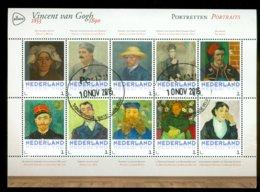 NEDERLAND *  VINCENT VAN GOGH * PORTRETTEN * BLOK * BLOC * BLOCK * PERSOONLIJKE POSTZEGELS * POSTFRIS GESTEMPELD - Persoonlijke Postzegels