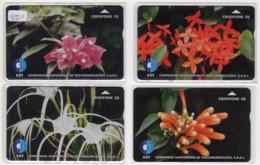 SAO TOME Ref MV Cards : LOT STM-02, 03, 04, 05 L&G FLEURS CN : 708L 3 000 Ex.année 1997 - San Tomé E Principe