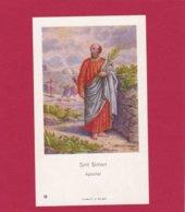 Devotieprent Sint Simon - Religion & Esotericism