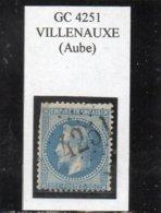 Aube - N° 29B Obl GC 4251 Villenauxe - 1863-1870 Napoléon III Lauré