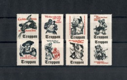 "1938 Sudetenland Cinderella Vignette Propaganda ""Most Delicious Beer From Troppau"" (Full Set) RARE! Postfrisch - Sudetenland"