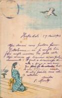 Japan - Carte Dessinée De 1903 Expédiée De Hako Vers Bordeaux - Japon