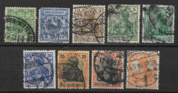 Germany 1889 - 1916 Germania DEUTSCHES REICHPOST, 9pcs, (o) - Germany